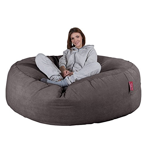 Lounge Pug®, 'Mega-Mammoth' Sofa Sitzsack XXL, Schlafsofa, Nadelstreifencord Schiefergrau