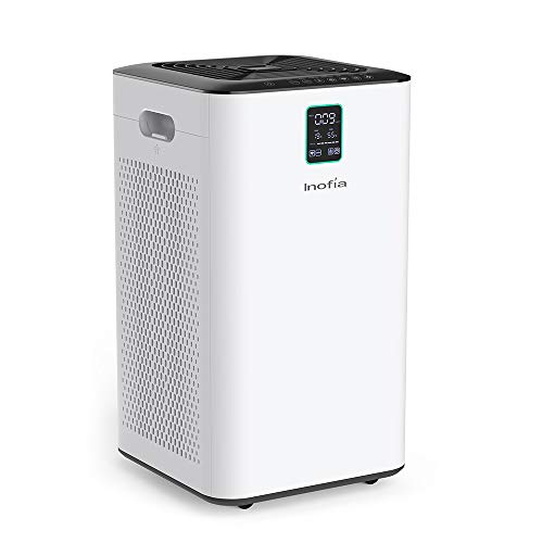 Inofia Air Purifier with True HEPA Air Filter, Wi-Fi Intelligent Control, Air Cleaner for Large Room, for Spaces Up to 1056 Sq Ft, Perfect for Home/of