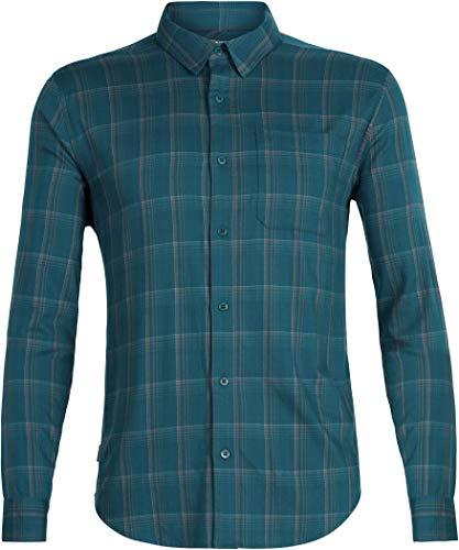 Icebreaker Herren Compass Flannel Longsleeve Hemd Funktionshmed Outdoorhemd
