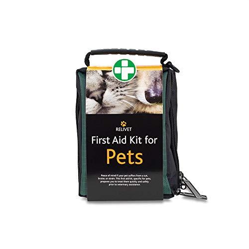 Fotografía de primeros auxilios de viaje para gato o perro