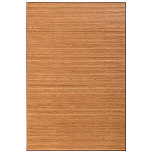 Alfombra de salón o Comedor Oriental marrón de bambú de 200 x 300 cm Sol Naciente - LOLAhome