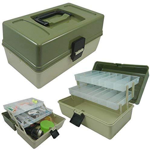 Lunar Box, boîte d'articles de pêche, 2 Plateaux avec Compartiments séparateurs réglables