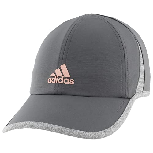 adidas Women's Superlite Relaxed Adjustable Performance Cap, Grey Six/Rose Gold/Heather Grey, ONE SIZE