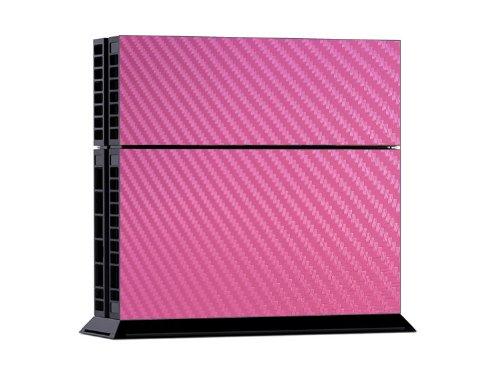 Gaminger Playstation 4 Designfolie Sticker Skin Set für Konsole + 2 Controller – rosa Wabenmuster