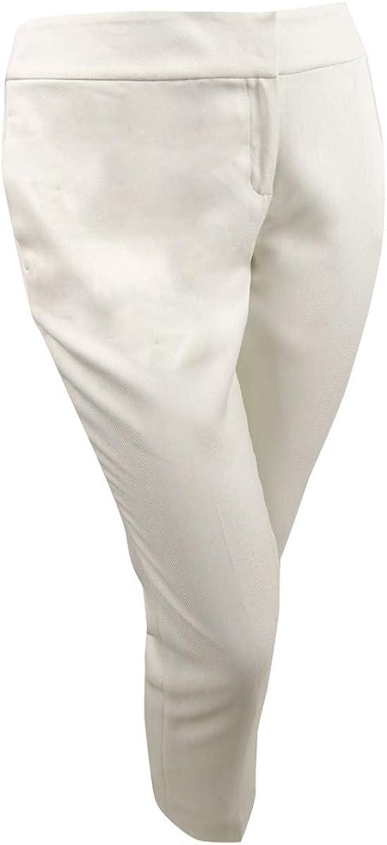 Kasper Women's Petite Straight-Leg Dress Pants (14P, Vanilla Ice)