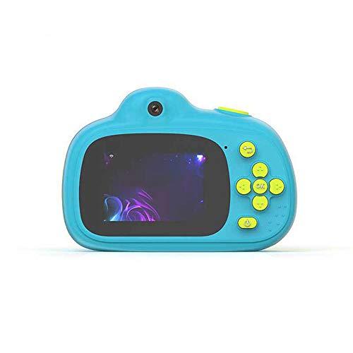 MOOLFN Video Niños Niños Selfie Toy Camera para Niños Mini Cámara HD Dual-Cámara Pequeño Regalo De Cumpleaños Pequeño Electrónica Digital Take Fotografías Fotos,Azul