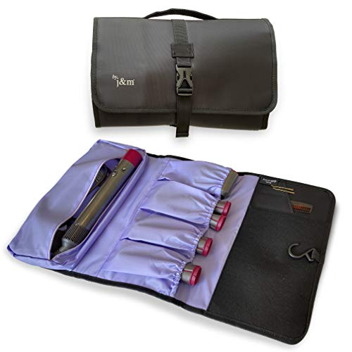 New: j&m Travel Storage Bag Compatible with Dyson Airwrap   Fits Extra Long Attachments   Padded Exterior for Extra Protection   Includes Internal Mat & Storage Pockets