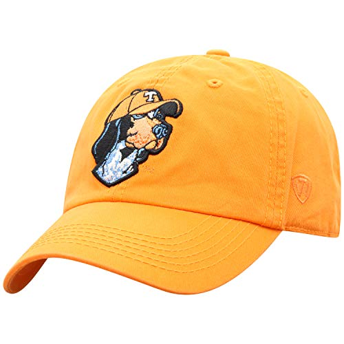 Top of the World NCAA Tennessee Volunteers Relaxed Fit Adjustable Hat, Orange, Adjustable