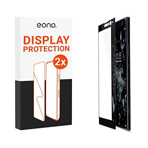 Eono 3D Panzerglas [2 Stück] kompatibel mit [Sony Xperia XA2 Plus] - Schutzglas mit 100% Display-Abdeckung gegen Displaybruch - 9H, Full Screen