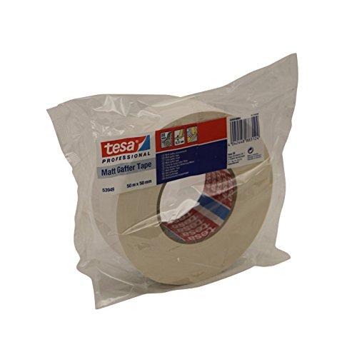 tesa 53949 Gaffa Tape Duct Tape matt 50mm weiß 50m