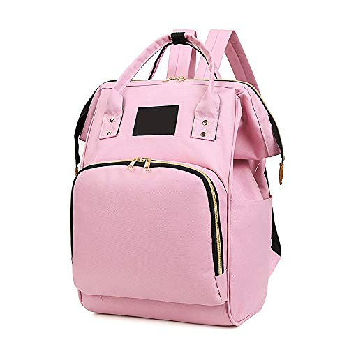 Diaper Bag Baby Changing Backpack Large Capacity Mummy Backpack Portable Travel Infant Nappy Bag - Pink
