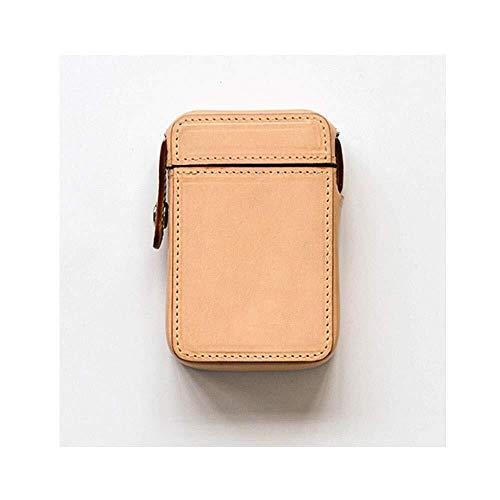 W-SHTAO L-WSWS 20-Stück Leder Zigarettenetui, bewegliche ultradünne kreative weiche und Harte Box, Warm und plump (Farbe: Braun, Größe: 9.7 * 6.3 * 2.9cm) Zigarren-Zubehör Case