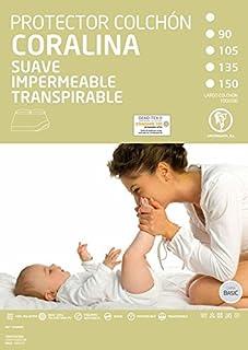 HIPERMANTA Protector de colchón no Acolchado, Impermeable y Transpirable, Color Blanco. Tamaño 150x190/200 cms