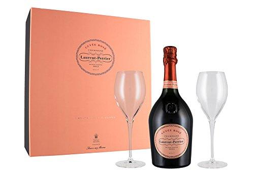 Champagne Cuvée Rosé Astucciato + 2 Calici Laurent-Perrier astucciato