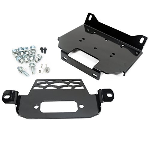 ECOTRIC Winch Mount Plate Bracket for 2015 2016 2017 2018 RZR 900 1000 Turbo General Model - Replace for 101220