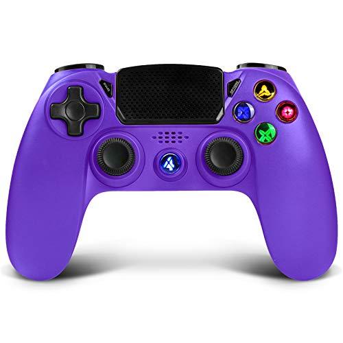 Controller wireless per PS4, controller di gioco Proslife per console Playstation 4 / Pro / Slim Joystick touchpanel con doppia vibrazione, telecomando da gioco cablato per PS3 / PC Windows