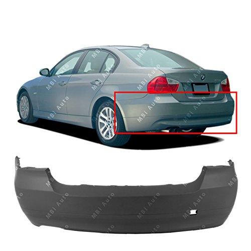 MBI AUTO - Primered, Rear Bumper Cover for 2006-2008 BMW 323 325 328 330 Sedan 3 Series 06-08, BM1100164