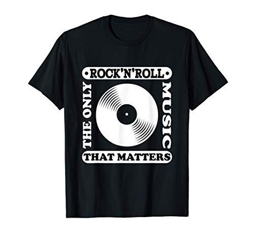 Rock and Roll Hombre Mujer Ropa Rockera Música Rockeros Camiseta