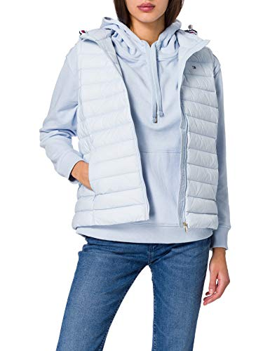 Tommy Hilfiger Damen TH ESS LW DOWN Vest Fleece-Weste, Breezy Blue, S