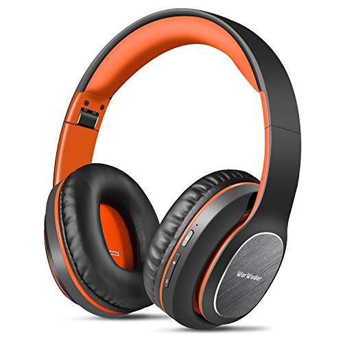 Bluetooth Kopfhörer Over Ear, WorWoder 80 St&en Spielzeit Kopfhörer mit Hi-Fi Stereo Headset Tiefer Bass, Wireless Kopfhörer mit Mikrofon für iPhone/Android/PC/Handys/TV
