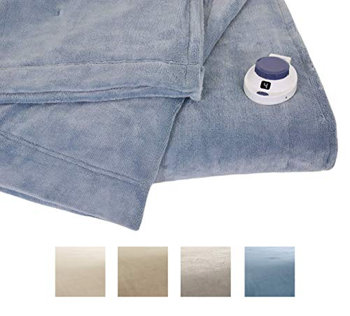 Serta | Luxe Plush Fleece Heated Electric Blanket with Safe & Warm...