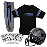 Franklin Sports Carolina Panthers Kids Football Uniform Set - NFL Youth Football Costume for Boys & Girls - Set Includes Helmet, Jersey & Pants - Medium