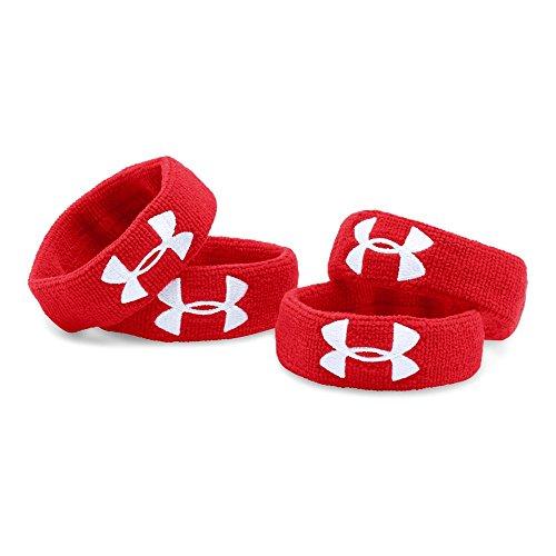 "Under Armour UA 1"" Performance Wristband 4-Pack OSFA Red"