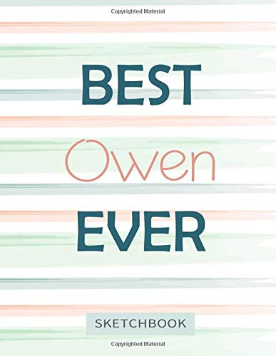 Best Owen Ever: Personalized SketchBook for boys, great gifts for kids. Classroom Edition Sketchbook for drawing, sketching, Doodling or learning to draw (sketch books for kids 8.5x11 110 pages )