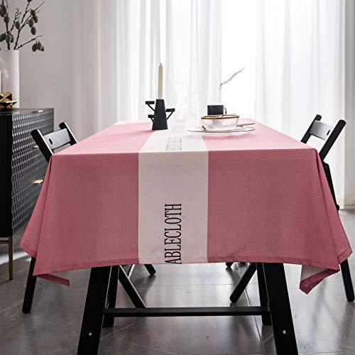 shiyueNB wasserdichte Tischdecke einfache Moderne Netto Tischdecke einfarbig Licht Tuch Kaffeetisch Tuch rosa mittleren Buchstaben ohne Spitze benutzerdefinierte 10 Yuan pro Quadratmeter