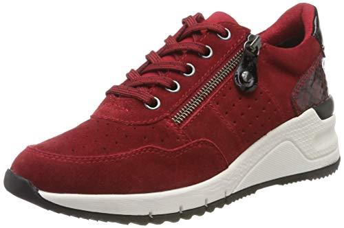 Tamaris Damen 1-1-23727-23 Sneaker, Rot (Scarlet Comb 559), 42 EU