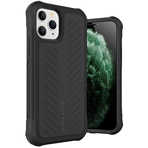 Ballistic iPhone 11 Pro Max Case, Heavy Duty Military Grade Drop Protection Bumper Rugged Case for iPhone 11 Pro Max 6.5 [Tough Jacket Series] Black