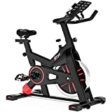 LABODI Indoor Cycling Bike Stationary, Exercise Bike for Home Cardio Gym, Workout Bike with 35 Lbs Flywheel & Thickened Frame Upgraded Version (Black)