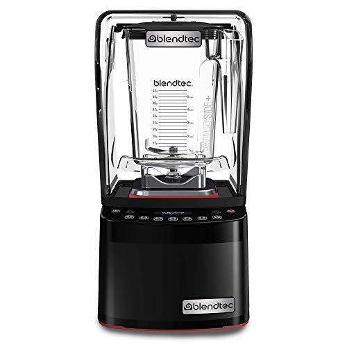 Blendtec Stealth 885 Commercial Blender, WildSide+ Jar, Blendtec Stealth Sound Enclosure, Strongest Commercial-Grade Power, Self-Cleaning, 42 Pre-programmed Cycles, Black
