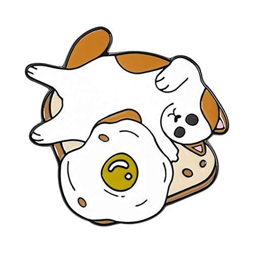 Pin para mochilas, diseño de cachorros de dibujos animados de fitness y deportes, bolsa de sombreros, collar Pin de decoración de ropa, regalo – 1