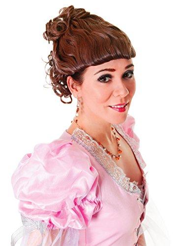 Femmes Dame Victorienne Perruque Brune Accessoire pour Edwardian à la Dickens Perruque Déguisement