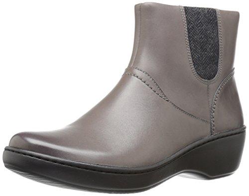 Clarks Women's Delana Joleen Boot, Grey Leather, 5.5 M US