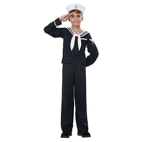 California Costumes Boys Navy/Sailor Boy Child Costume Black, Extra...