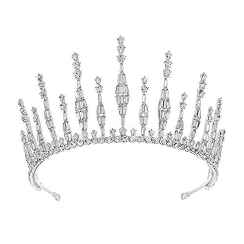 Lurrose Tiara de Diamantes de Imitación Corona de Cristal Princesa Reina Real...