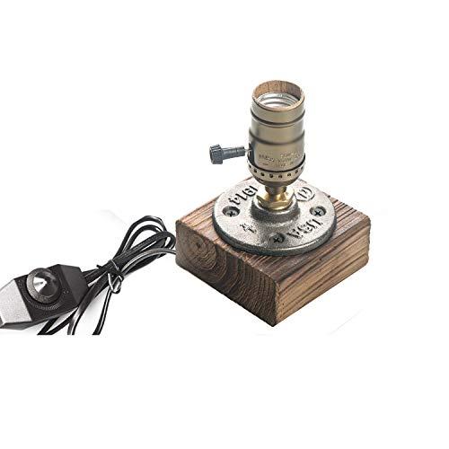 Easygame-Vintage Schreibtischlampe Steampunk Eisen Tischlampe E27 UK Standardstecker Tischlampen Eisensockel Moderne Antik Retro Tischleuchte (B)