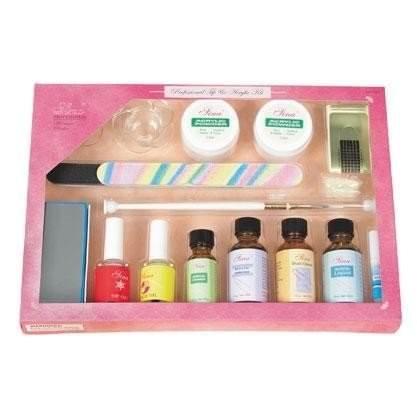 kit manucure pm pro faux ongles poudre acrylique 15 pieces sina