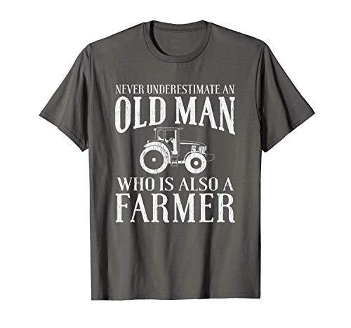 xinhengchang3506 Farmer Funny Gift - Never Underestimate An Old Man Farmer T-Shirt XXL