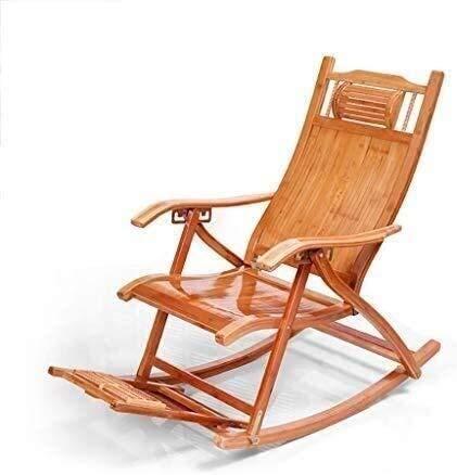BATOWE Sonnenliege Gartenstühle Faltbare Liegestuhl Schaukelstuhl Bambus, Lounge Chair Sessel Erwachsener Liegestühle...