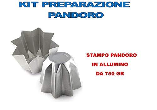 Casa dolce casa Stampo PANDORO Artigianale Natale - Kit N°2 CDC (1 Stampo PANDORO da 750 GR)