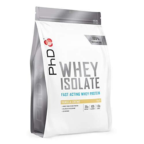 PhD Whey Protein Isolate, Vanilla Creme, 1 kg