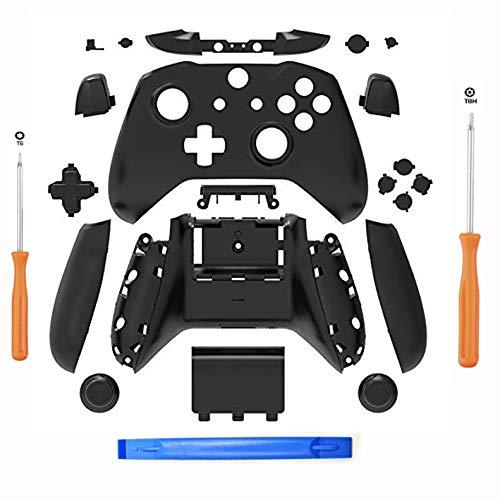 eLUUGIE -Gehäuse für Xbox One S Slim Controller (3,5 mm Kopfhörerbuchse) S Controller teile (schwarz)