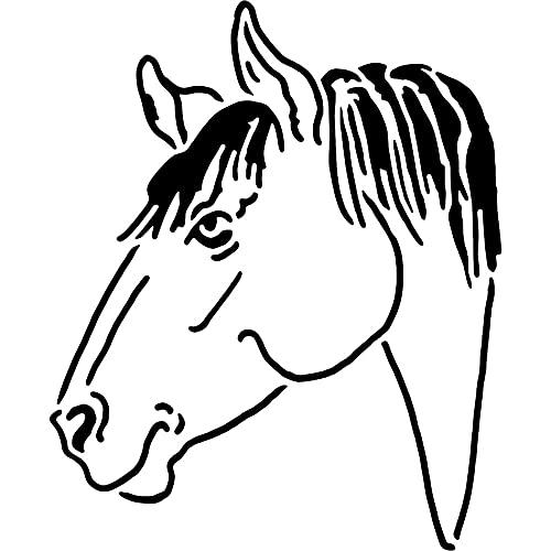 Azeeda Groß A2 'Pferdekopf' Wandschablone / Vorlage (WS00027209)