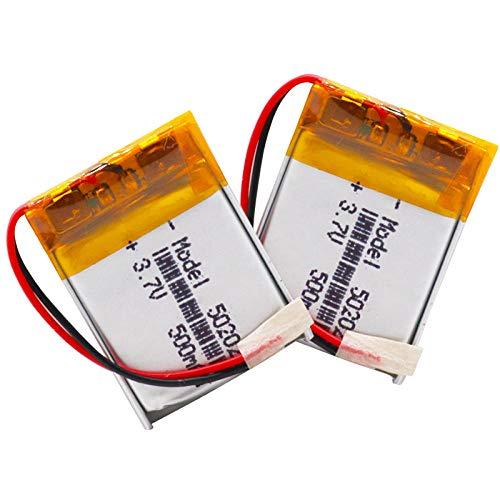 mrwellog 2 uds, Batería Recargable de polímero de Litio, 3,7 v, 500...