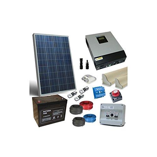 PuntoEnergia Italia - Kit Solar para Ambulantes 100W 12V Plus Placa Accesorios Inversor 1200W 12V - KAM100PL