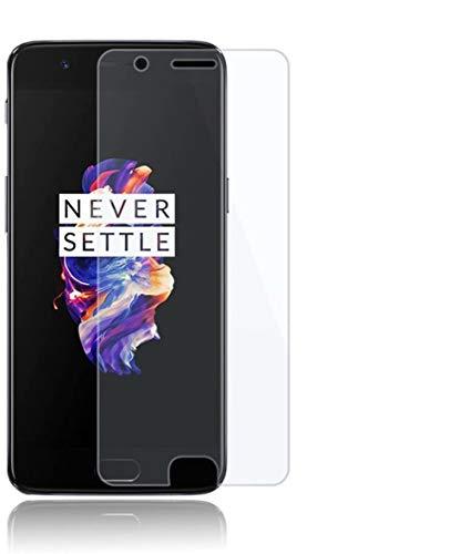 HongMan [2 Pack] Protector de Pantalla para OnePlus 5T Cristal Templado, 9H Dureza, Sin Burbujas, Alta Definicion, Resistente a Arañazos Vidrio Templado Screen Protector