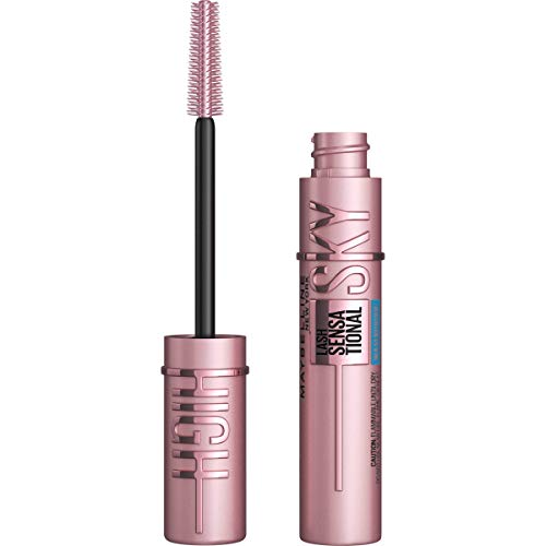 Maybelline Sky High Washable Mascara Makeup, Volumizing Mascara, Buildable, Lengthening Mascara, Defining, Curling, Multiplying, Waterproof Very Black, 0.2 fl. oz.